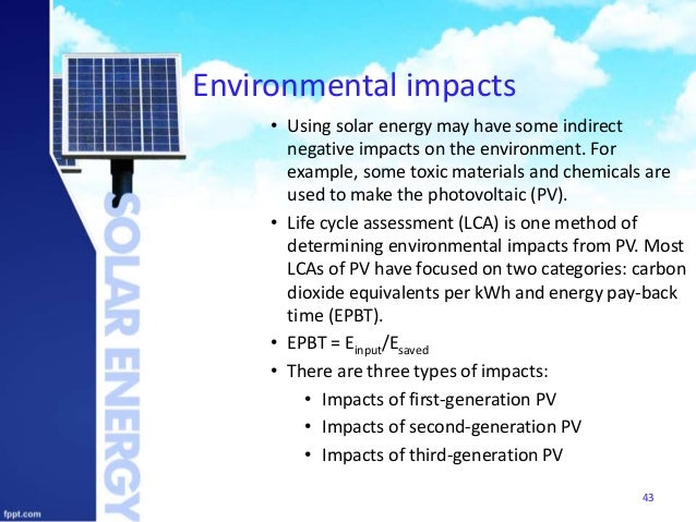 Solar Energy And Environment