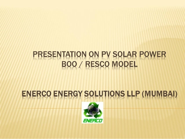  About Us  BOO / RESCO Model  Next Steps www.econserve.in