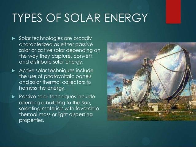 Solar energy two case studies