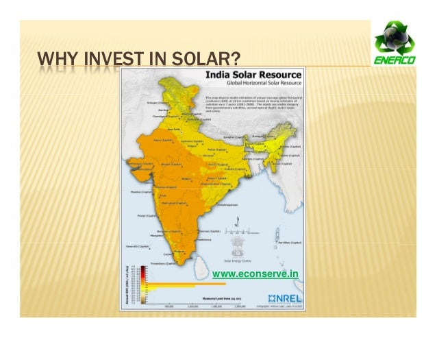 WHY INVEST IN SOLAR? www.econserve.in
