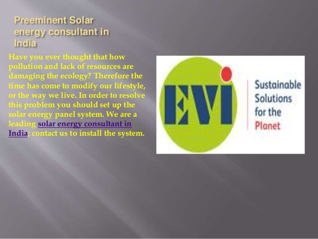 Solar Energy Consulting In India