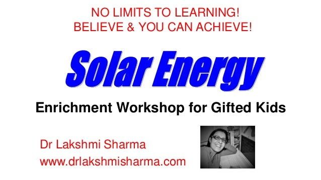 Gifted students solar energy the gifted child for Solar energy information for students