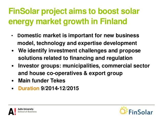 Solar energy feasibility and policies Auvinen EnergyWeek Vaasa 17032015 Slide 2