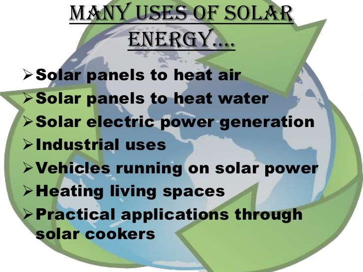 project on solar energy On uses of solar energy for kids
