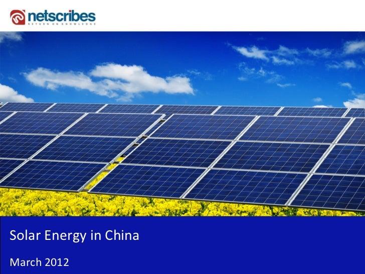 SolarEnergyinChinaMarch2012