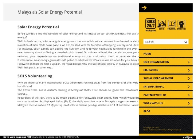 Malaysia's Solar Energy Potential Solar Energy Potential Before we delve into the wonders of solar energy and its impact o...