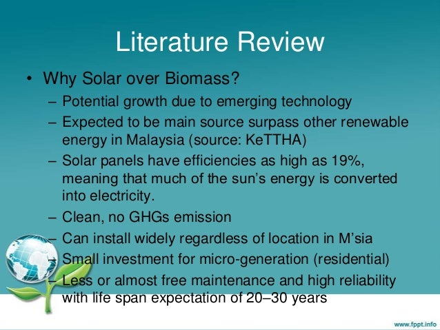 literature analysis about photo voltaic energy