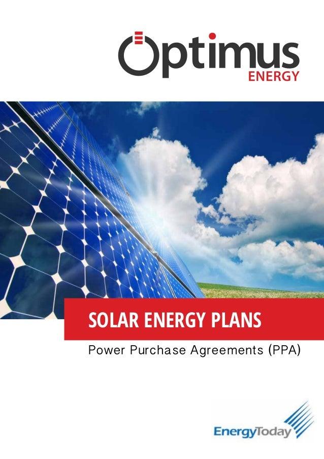Optimus Energy Solar Energy Plans Ppa Agreements