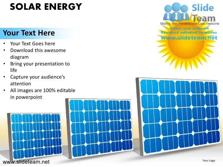 solar energy powerpoint ppt templates., Presentation templates