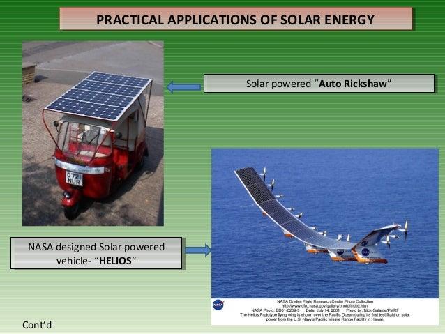 Innovative applications of solar energy.