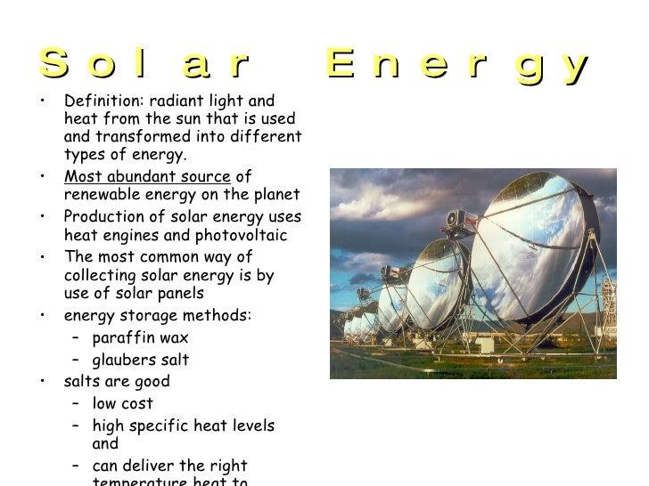 Solar energy presentation for What is solar energy for kids