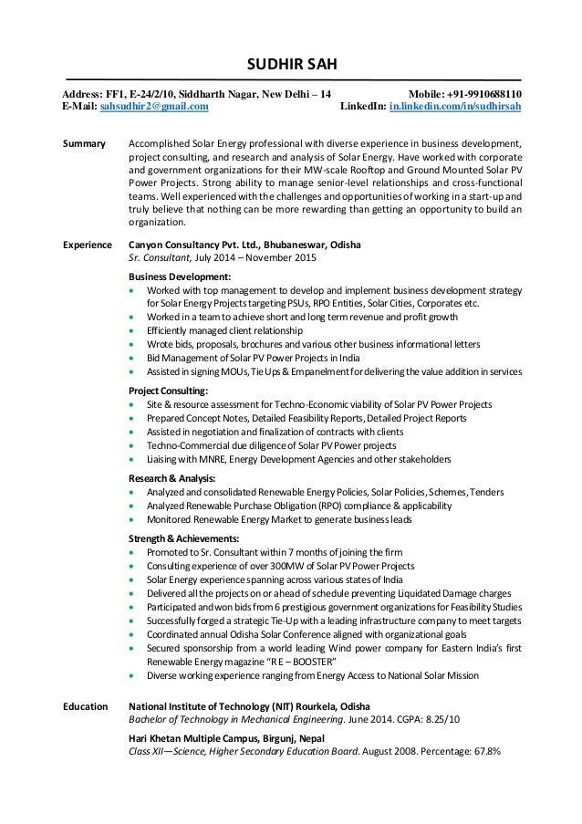 consultancy cv - Romeo.landinez.co