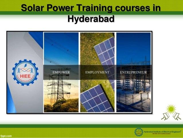 Solar energy training in hyderabad, solar power training hyderabad …