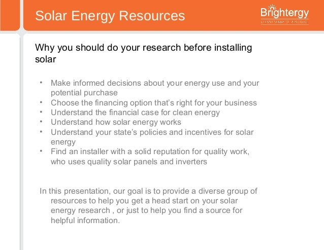 Solar Resources: where to find solar energy information ...