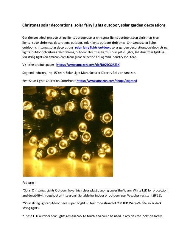 Christmas Solar Decorations Solar Fairy Lights Outdoor
