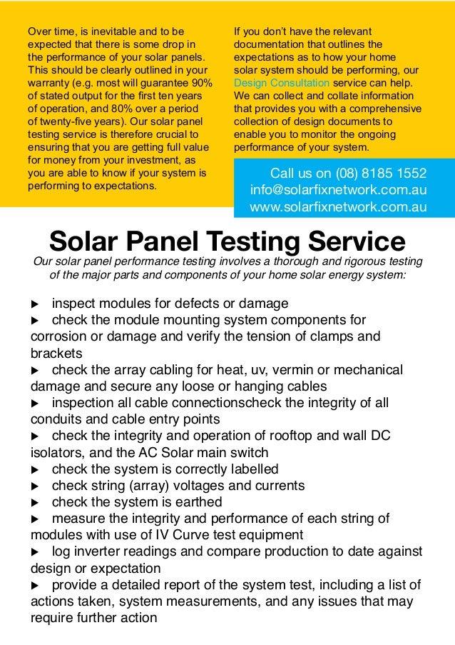 solar fix network adelaide solar panel testing. Black Bedroom Furniture Sets. Home Design Ideas