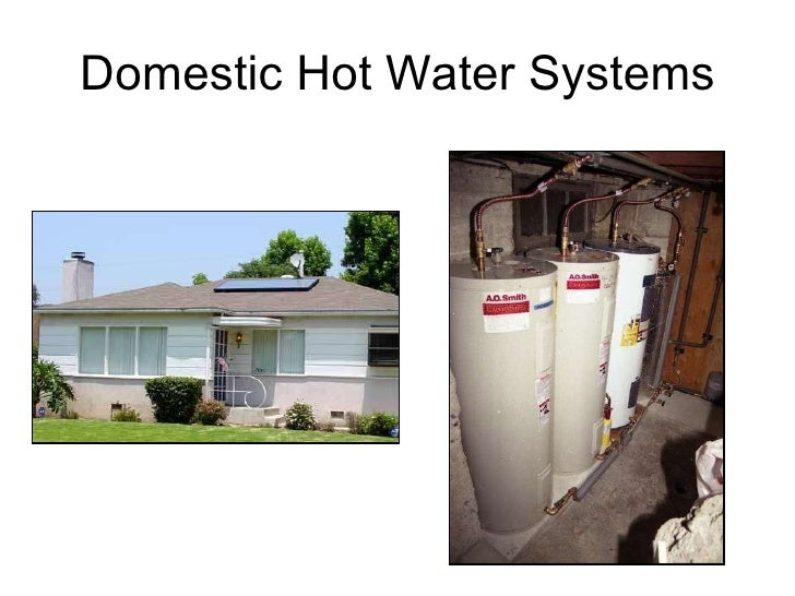 Solar heating systems for Domestic hot water heaters