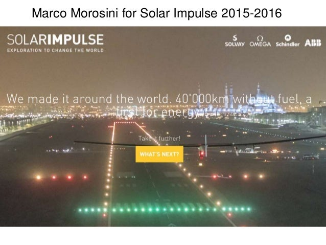 Marco Morosini for Solar Impulse 2015-2016