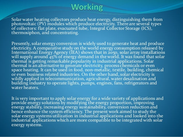 An analysis of the solar energy release