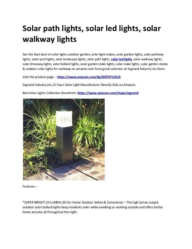 Solar Path Lights Solar Led Lights Solar Walkway Lights