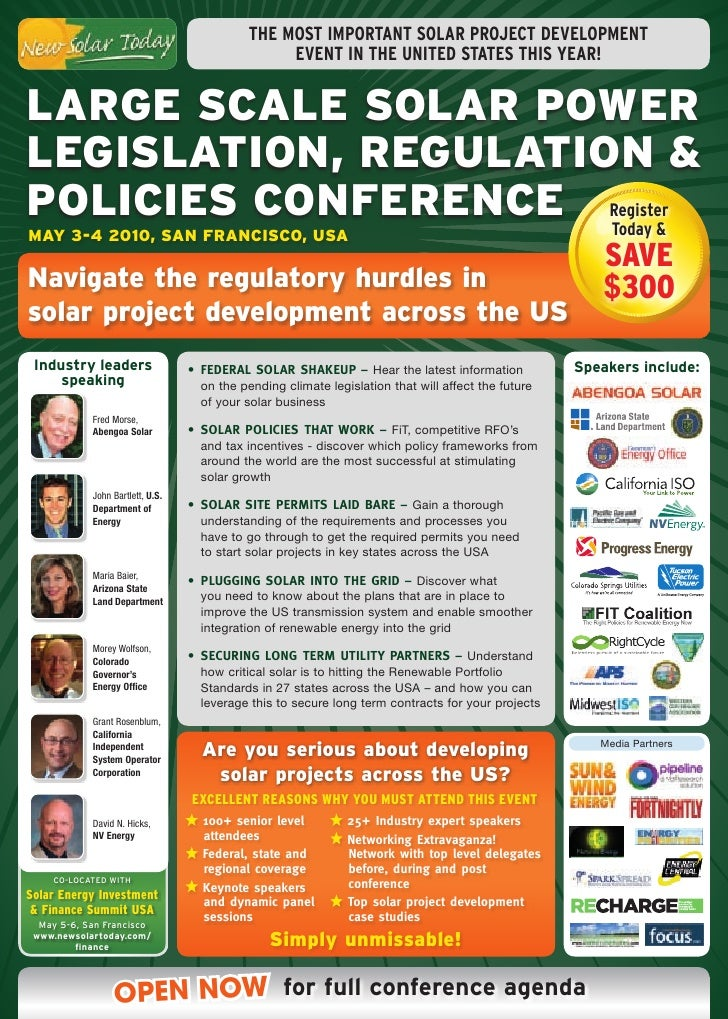THE MOST IMPORTANT SOLAR PROJECT DEVELOPMENT                                                  EVENT IN THE UNITED STATES T...