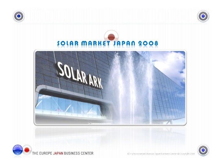 Solar Market Japan 2008