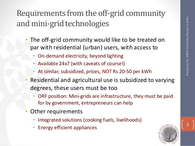Bangalore Jul 16 Prospects For 100 Electricity Access