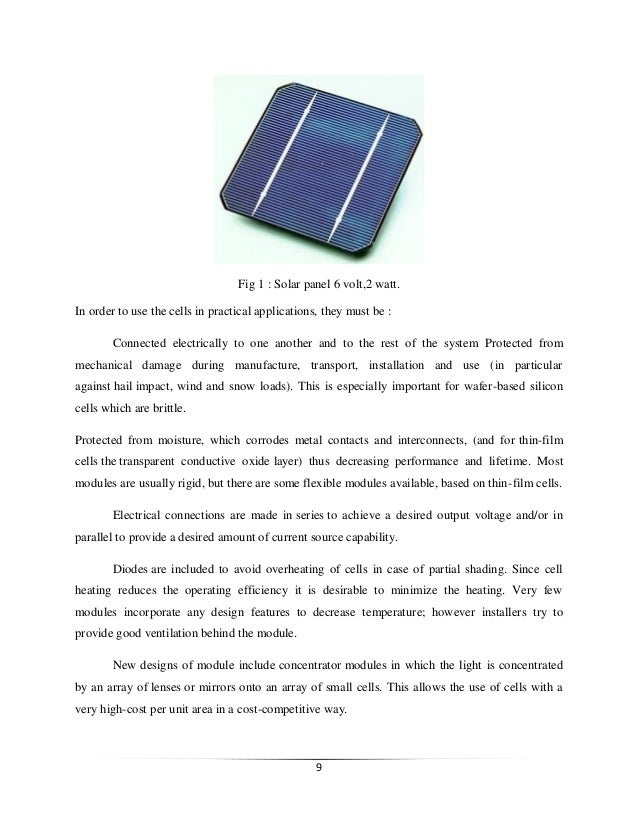 Solar Mobile Charger Report