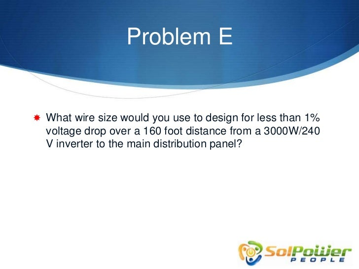 Solar mooc voltage drop calculations 27 problem e what wire size greentooth Image collections