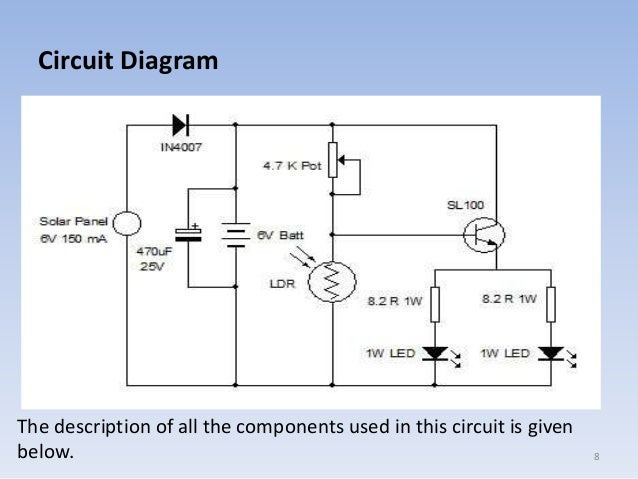 Solar Automatic On Off Switch Circuit Diagram - Wiring Diagram