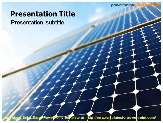 solar panel powerpoint template. Black Bedroom Furniture Sets. Home Design Ideas