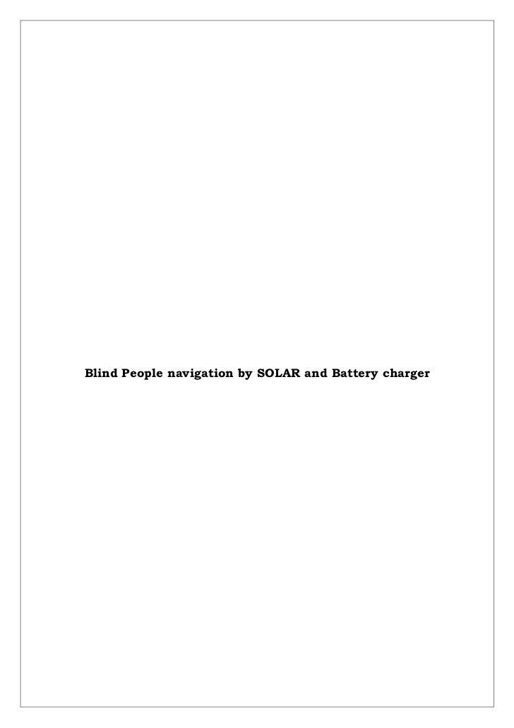 Solar panel and ir sensor based navigation (document)