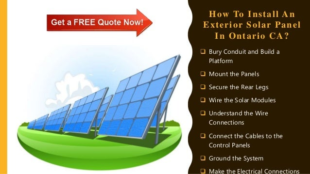 how to install an exterior solar panel