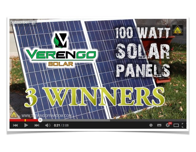 Solar Panel Giveaway By Verengo Solar And The King Of Random