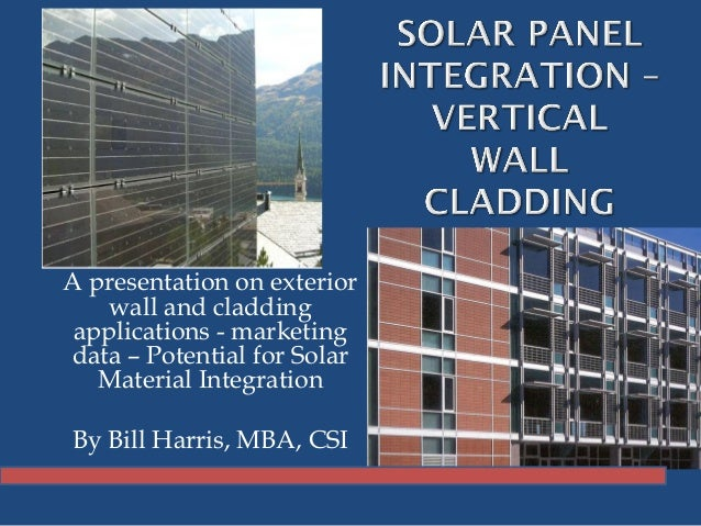 Solar Panel Integration Vertical Wall Cladding La Build