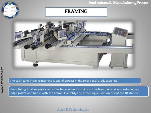 Solar Panel Manufacturing Process