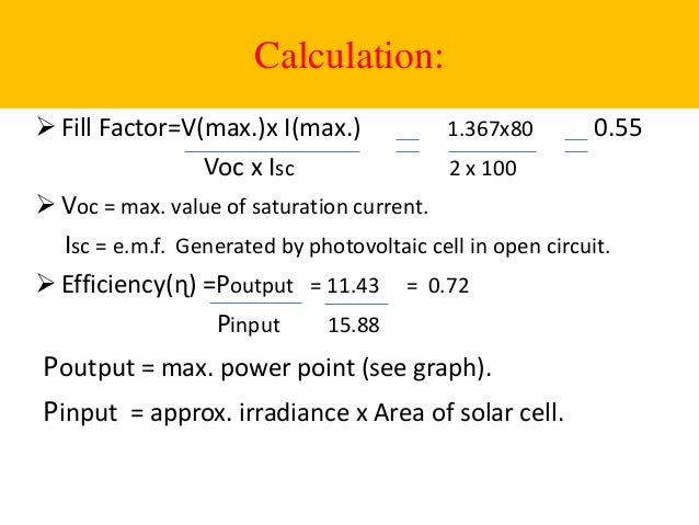 solar power calculation formula pdf