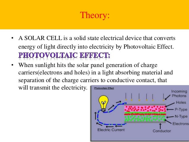 Theory of solar cells