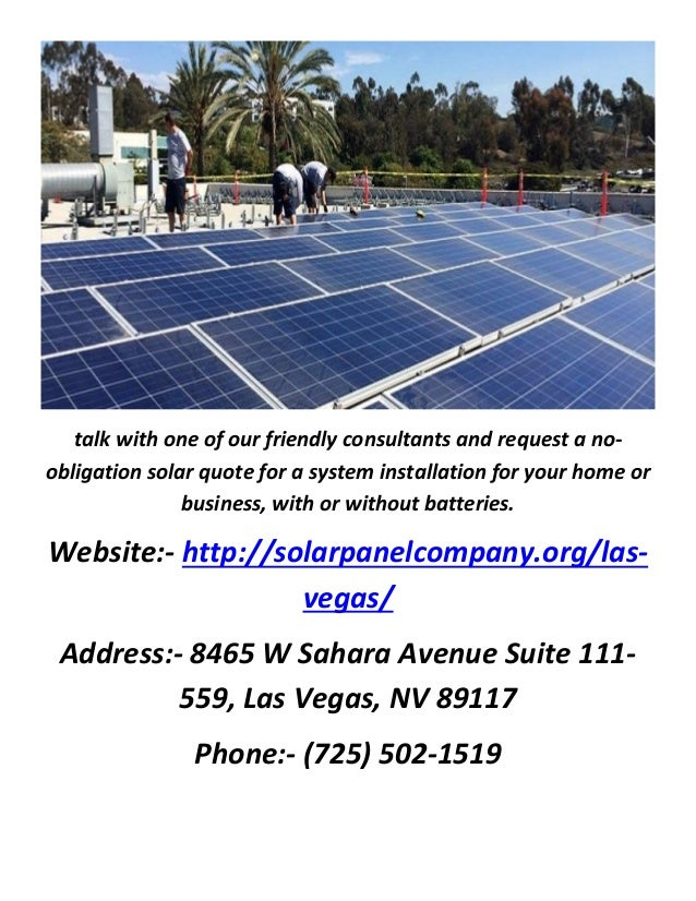 Solar Panels In Las Vegas Quotes From Best Solar Companies