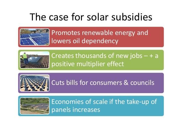 Economics Of Solar Panel Subsidies