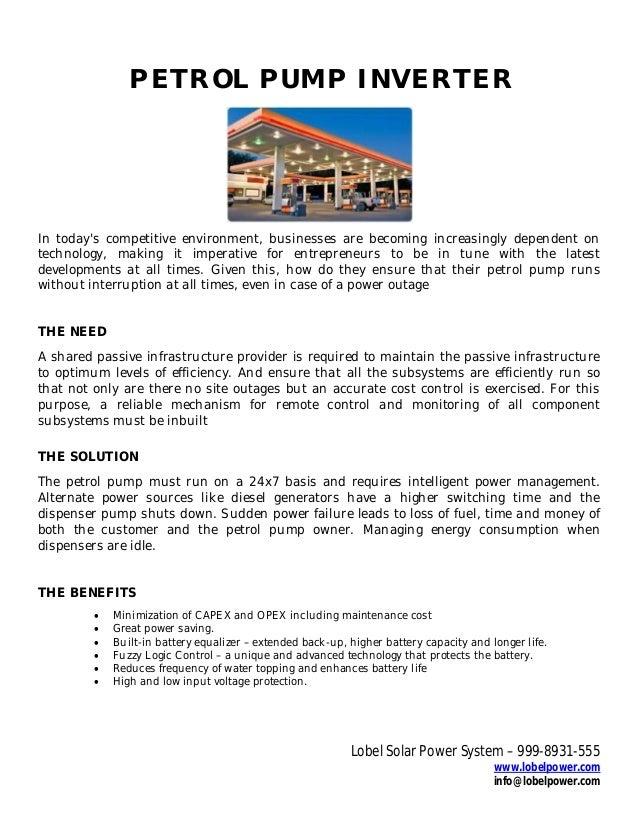 Petrol station business proposal