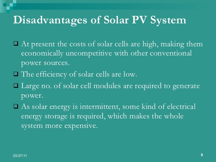 the advantages and disadvantages of solar At cost of solar, we're always talking about the advantages and benefits of solar energy and trying to share solar news that can help boost the exposure and speed the adoption of residential solar, both because we see solar power as the future of sustainable energy, and because we acknowledge that .