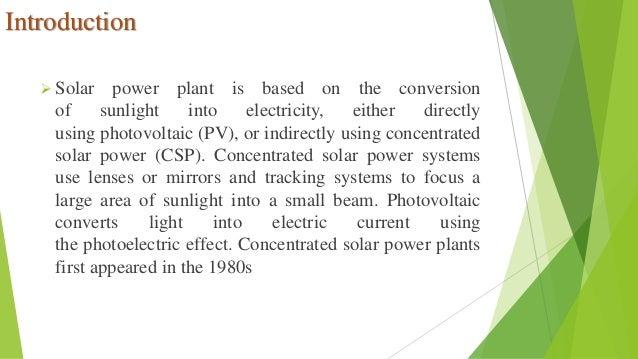 Solar Plant Ppt By Ritesh Kumawat