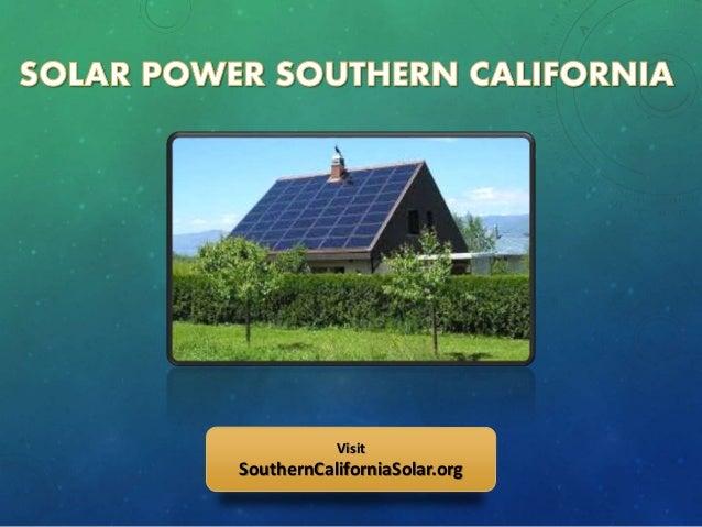 Solar Power Companies In Southern California