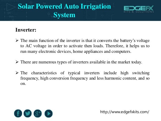 solar powered auto irrigation system Center pivot irrigation system solar powered • center-pivot: is the agriculture  solar™method of automated sprinkler irrigation achieved by automatically  rotating.