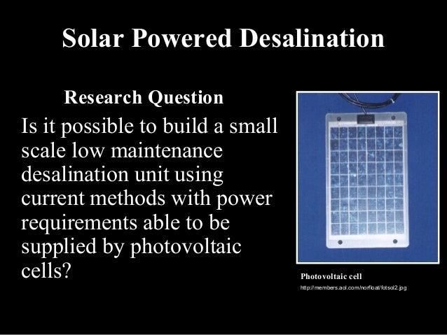 Solar Powered Desalination Final