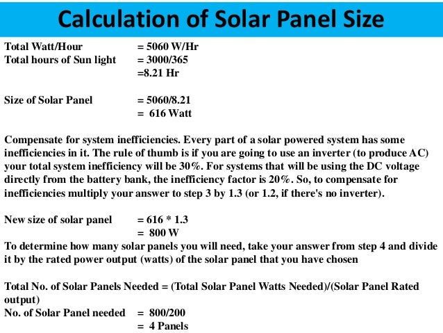 Solar powered house calculation of solar panel size keyboard keysfo Gallery