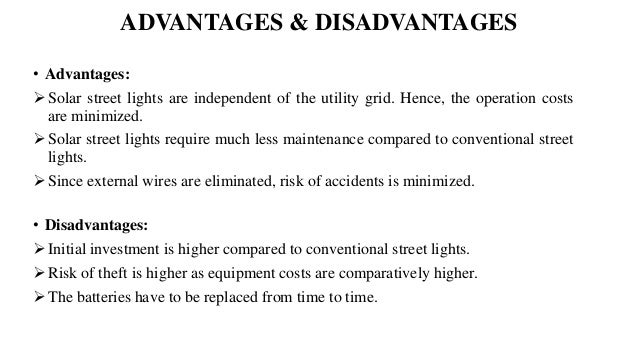 Advantages and Disadvantages of Street Lighting