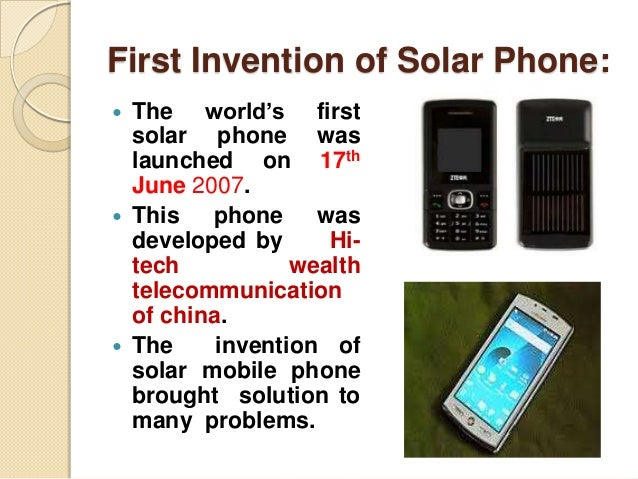 Solar Power Enabled Mobile Phones Technology