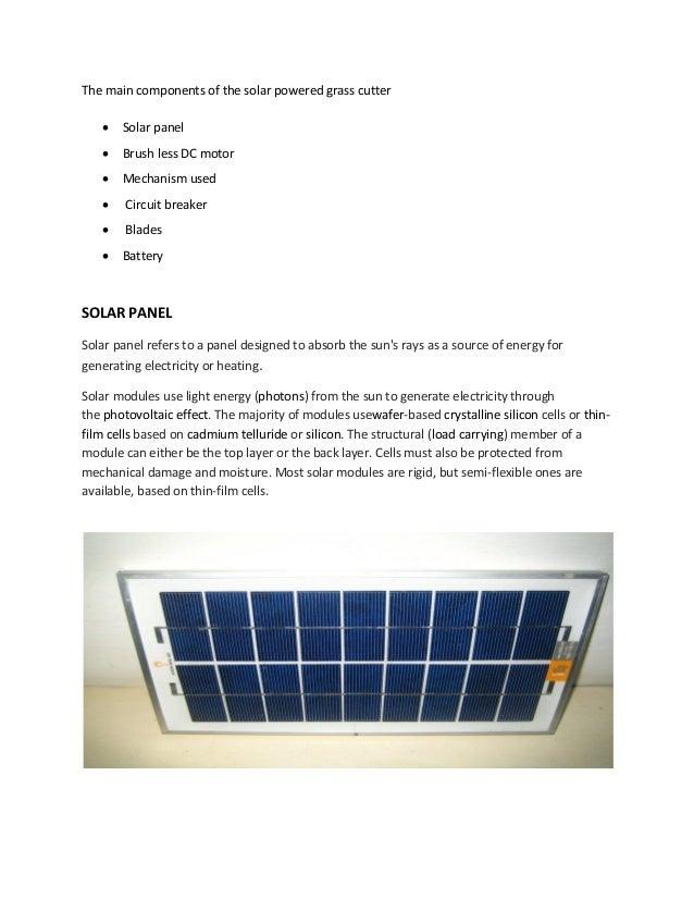 Solar Power Lawn Mower